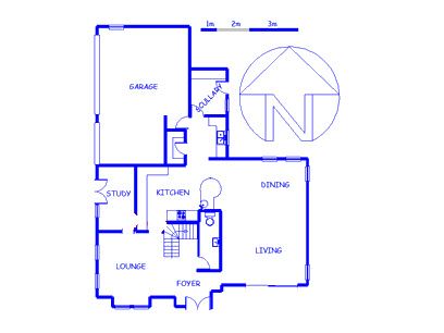Floor plan of the property in Le Grand George Golf Estate