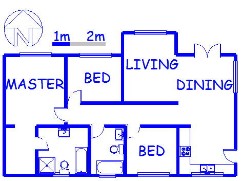 Floor plan of the property in Blue Hills