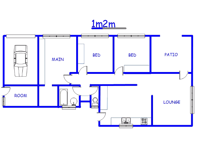Floor plan of the property in Kwaggasrand