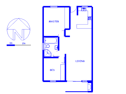Floor plan of the property in Burgundy Estate
