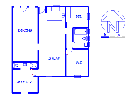 Floor plan of the property in Saldanha