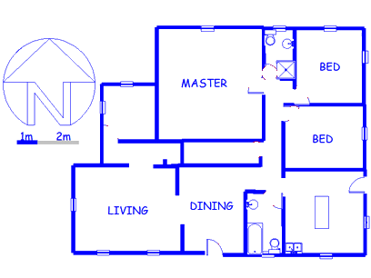 Floor plan of the property in Reitz