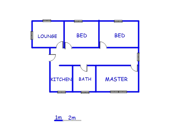 Floor plan of the property in Nelspruit Central