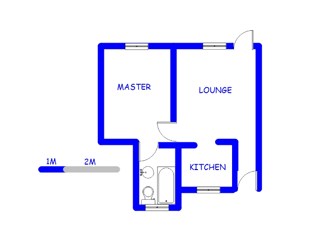 Floor plan of the property in Northgate (JHB)