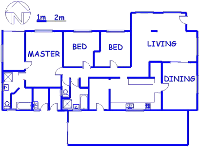 Floor plan of the property in Mayville