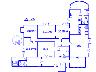 Floor plan of the property in Mooiplaats