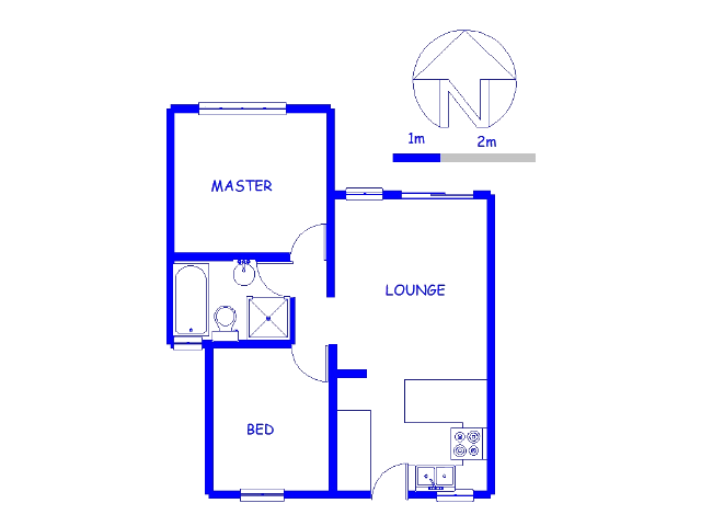 Floor plan of the property in City and Suburban