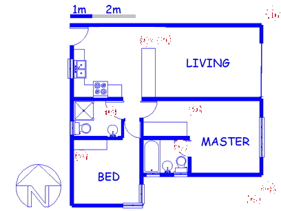 Floor plan of the property in Plettenberg Bay
