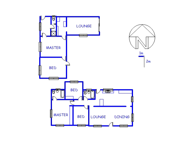 Floor plan of the property in Mooinooi