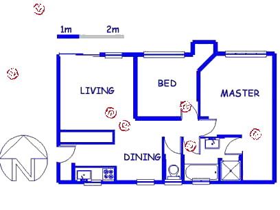 Floor plan of the property in Hestiapark