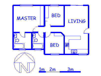 Floor plan of the property in Midrand