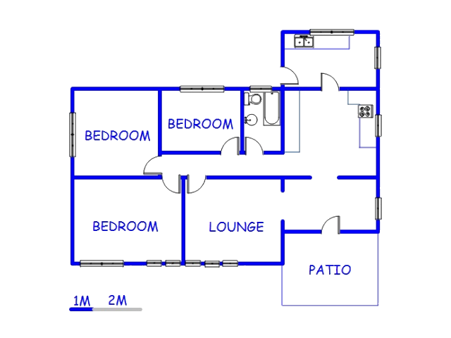 Floor plan of the property in Florida North