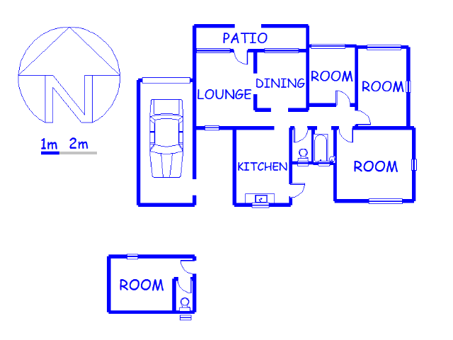 Floor plan of the property in Phumphele