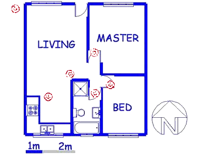 Floor plan of the property in Proklamasie Hill