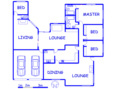 Floor plan of the property in Kilner park