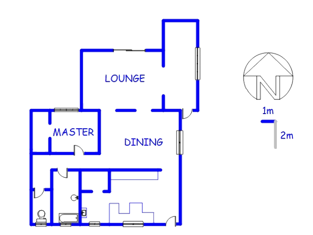 Floor plan of the property in Wallmannsthal A.H