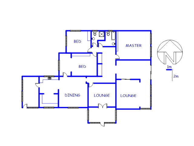 Floor plan of the property in Vredefort