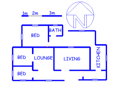 Floor plan of the property in Blanco