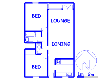 Floor plan of the property in Florida