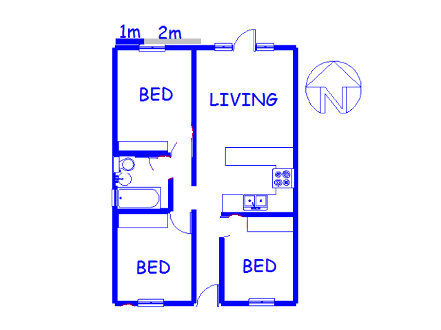 Floor plan of the property in Greenshields Park