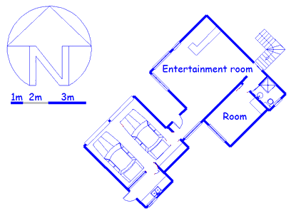 Floor plan of the property in Kloof