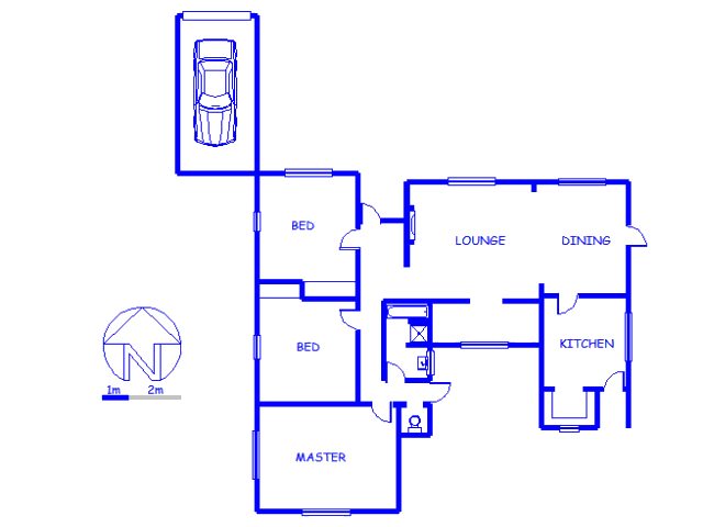Floor plan of the property in Brackenfell South