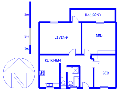 Floor plan of the property in Cape Town Centre