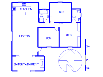 Floor plan of the property in Agulhas