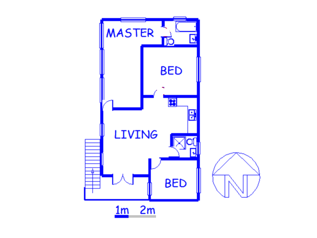 Floor plan of the property in Tijger Vallei