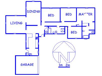 Floor plan of the property in Woodmead