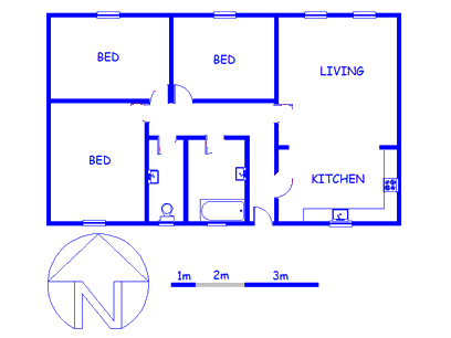 Floor plan of the property in Kenilworth - CPT