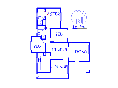 Floor plan of the property in Kelvin