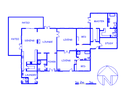 Floor plan of the property in Kameeldrift
