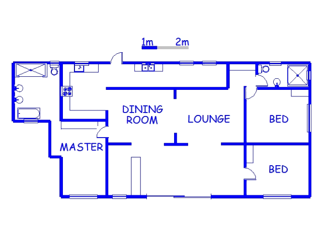 Floor plan of the property in Mtwalumi