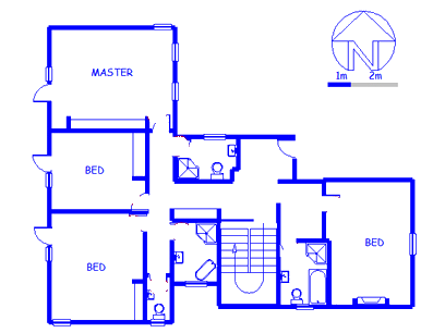 Floor plan of the property in Mill Park