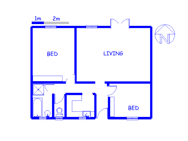 Floor plan of the property in Rondebosch