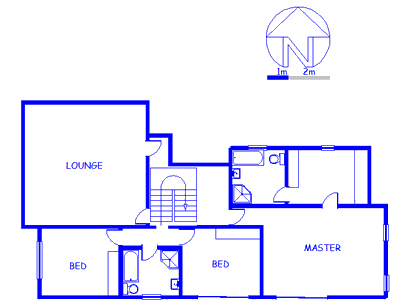 Floor plan of the property in Theescombe AH