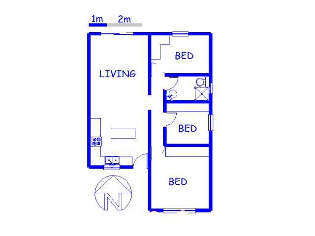 Floor plan of the property in Kensington - CPT
