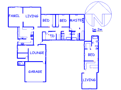 Floor plan of the property in Heidelberg - GP