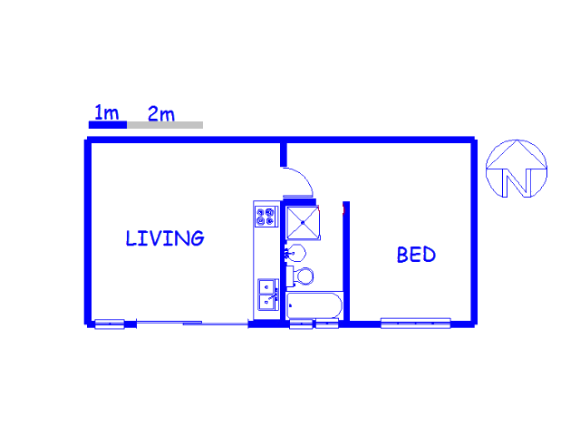 Floor plan of the property in Sea Point