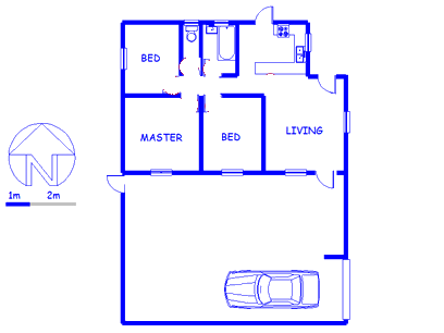 Floor plan of the property in Kleinvlei
