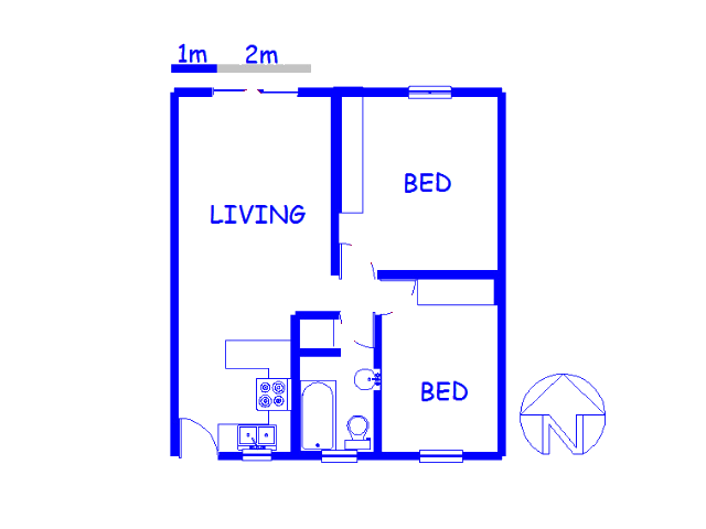 Floor plan of the property in Sir Lowry's Pass