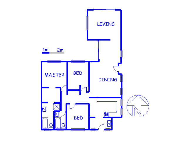 Floor plan of the property in Val de Grace