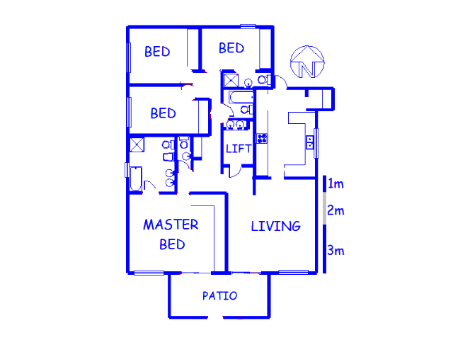 Floor plan of the property in Bantry Bay