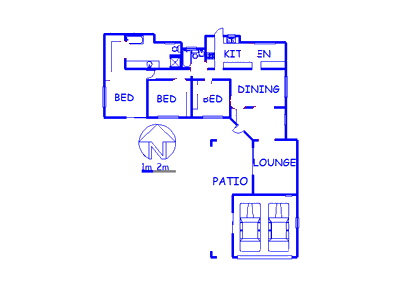 Floor plan of the property in Fourways