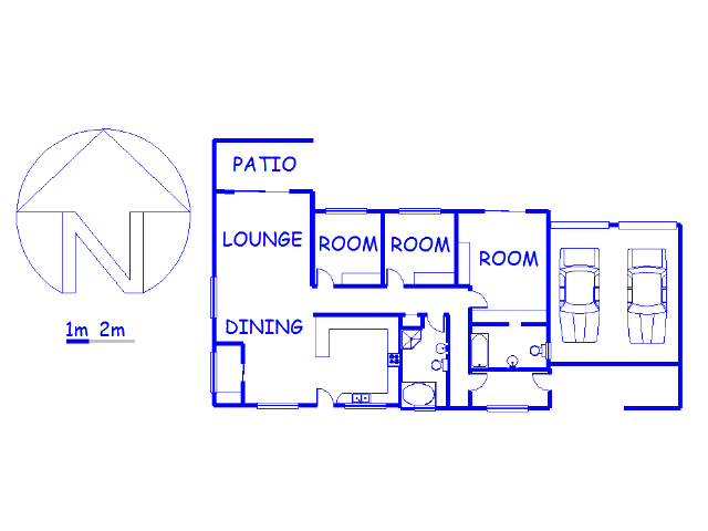 Floor plan of the property in Mooi River