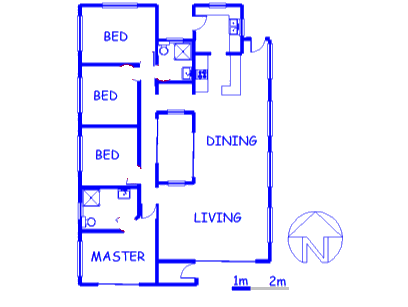 Floor plan of the property in Boschkop