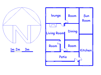 Floor plan of the property in Lindley