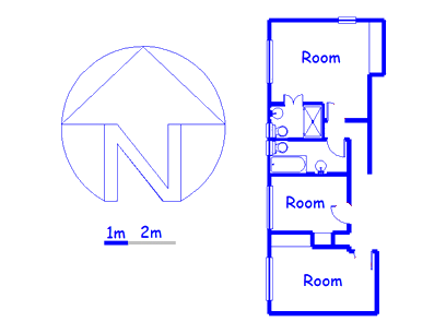 Floor plan of the property in Mobeni East