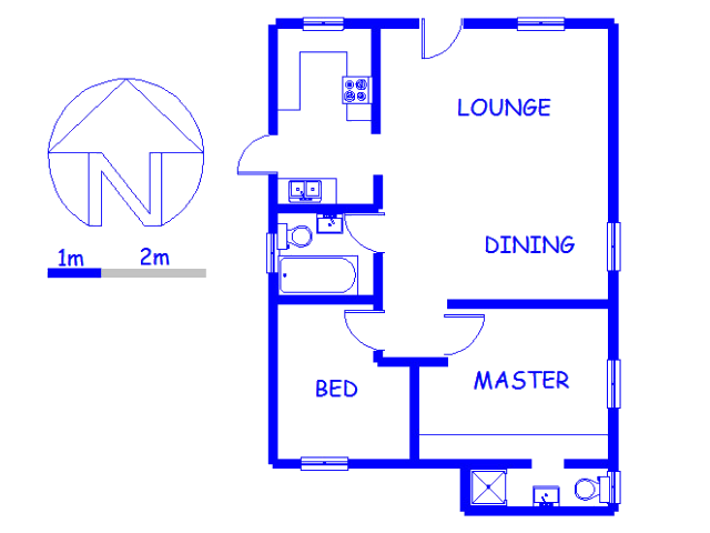 Floor plan of the property in Nooitgedacht